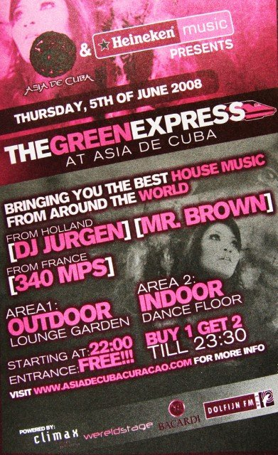 Green Express at Asia de Cuba